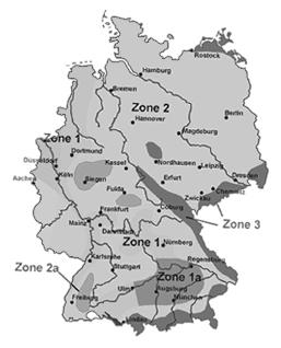 Schneelast Karte Deutschland
